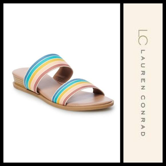 Lc Lauren Conrad Mint Slide Rainbow
